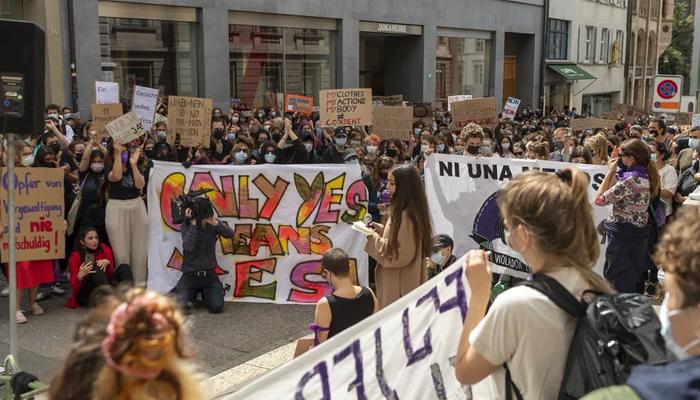 swiss protest